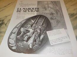 ANCIENNE PUBLICITE LES GRANDS BAPTEMES  LA MARQUISE DE SEVIGNE 1932 - Afiches