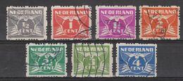 NVPH Nederland Netherlands Pays Bas Holanda 33-39 Used ; Roltanding, Syncopated, Syncope, Sincopado 1928 ALSO PER PIECE - Heftchen Und Rollen