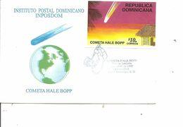 Espace - Comète De Halley ( FDC De Dominicaine De 1997 Avec BF à Voir) - FDC & Conmemorativos
