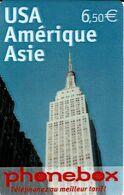 Carte Prépayée - Phonebox - USA Amérique Asie - France