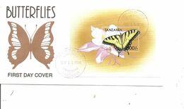 Papillons ( FDC De Tanzanie De 1999 Avec BF à Voir) - Schmetterlinge