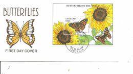 Papillons ( FDC De Tanzanie De 1994 Avec BF à Voir) - Schmetterlinge