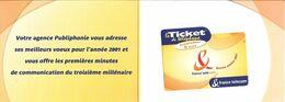 TICKET TELEPHONE-FRANCE-PU60-2001-ECHANTILLON 5Mn- Non Gratté-avec ENCART-NEUF-TBE - Frankreich