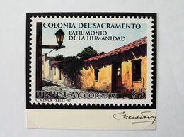 1997 URUGUAY Approved Sketch - Colonia Patrimonio Humanidad World Heritage Old Lantern- Signed Artist Carlos Menck - Uruguay