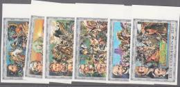AMERICAN INDIANS-COMOROS - 1976 - US BICENTENARY SET OF  6 IMPERFORATE MARGINAL SET  MNH - Indiani D'America
