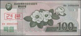 TWN - NORTH KOREA 61a2-SP - 100 Won 2008 (2009) Specimen 0000000 - Prefix ㅁㅇ UNC - Corea Del Nord