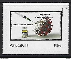 COVID-19 - PORTUGAL - Personalized Stamp (In Search Of A Vaccine) - National Mail At 20g - Malattie