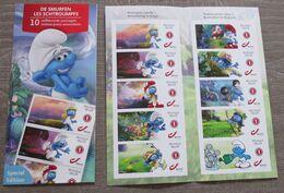 1 Boekje Met 10 Postzegels N°1 De Smurfen** - Markenheftchen 1953-....