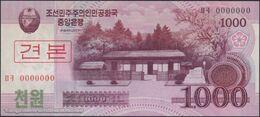 TWN - NORTH KOREA 64a2-SP - 1000 1.000 Won 2008 (2009) Specimen 0000000 - Prefix ㅁㅋ UNC - Corea Del Nord