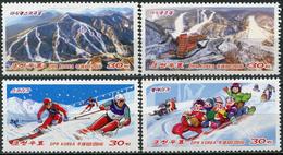 Korea 2014. Opening Of The Ski Area At Masik Pass (MNH OG) Set Of 4 Stamps - Korea, North