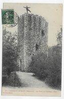 (RECTO / VERSO) LAMALOU LE HAUT EN 1907 - N° 27 - LA TOUR DU CHATEAU D' EAU AVEC PERSONNAGES - BEAU CACHET -  CPA - Lamalou Les Bains