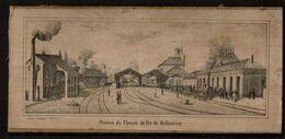 Lithographie - Station Du Chemin De Fer De Mulhausen - Mulhouse - Lith. De J. Pattegaÿ - 2 Scans - Ferrocarril
