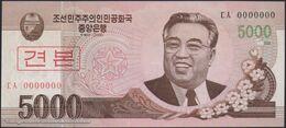 TWN - NORTH KOREA 66a2-SP - 5000 5.000 Won 2008 (2009) Specimen 0000000 - Prefix ㄷㅅ UNC - Corea Del Nord
