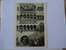 DOUBLE CARTE MAXI GRAVURE La Maison Des Chevaliers De Saint Jean à Colmar   TBE - Autres Collections