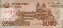 TWN - NORTH KOREA 67a2-SP - 5000 5.000 Won 2013 Specimen 0000000 - Prefix ㄹㅂ UNC - Corea Del Nord