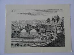 1/2 Carte Le Vieux Laval Vers 1720 TBE - Autres Collections