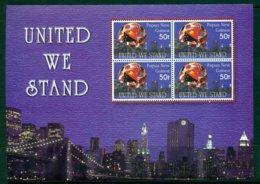 PAPUA NEW GUINEA 2002 Mi 962 Min Sheet** United We Stand [A7154] - Briefmarken