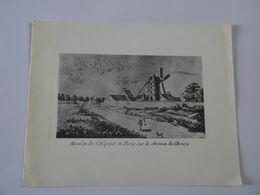 1/2 Carte Moulin De L'Hopital De Paris Sur Le Chemin De Choisy  TBE - Autres Collections