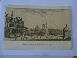 Double Carte Estampe L'Hotel De Ville De Paris Et De La Place De Greuc   TBE - Autres Collections