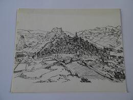 DOUBLE CARTE MAXI Estampe LE PUY-en-VELAY La Ville Du Puy En 1607 D'après Un Dessin De L'architecte Martellange  TBE - Autres Collections
