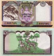 """NEPAL, 10 Rupees, 2012, P70 """"Two Deer"""", UNC - Nepal"""