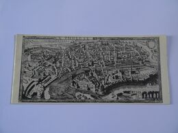 DOUBLE CARTE MAXI Estampe PLAN BEREY(1663) MUSEE PAUL-DUPUY ATELIER YAN A Retrouver  TBE - Autres Collections