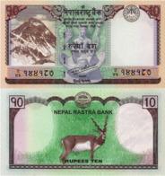 "NEPAL, 10 Rupees, 2017, P77 ""One Deer"", UNC - Népal"