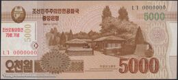 TWN - NORTH KOREA CS19-SP - 5.000 Won 2013 Specimen 0000000 - 70th Ann. Of Foundation Of D.P.R. Of Korea - Prefix ㄴㄱ UNC - Corea Del Nord