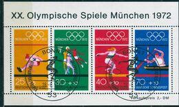 BRD - Mi 734 / 737 - OO Gestempelt (53) - Olympische Spiele 1972 VI - Gebraucht
