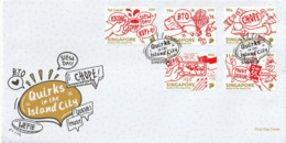 Singapore 2020 Quirks In The Island City - Covid-19 - FDC Complete Set - Singapour (1959-...)