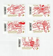 Singapore 2020 Quirks In The Island City - Covid-19 -  5 V. - MNH - Singapour (1959-...)