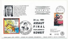 ONU SUISSE - Env. Depuis Genève Nations Unies - 24/2/1991 Assaut Final Pour Libérer Le Koweit - Mission Daguet - Lettres & Documents