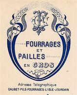 Facture 1921 Pailles Fourrages Caubet Fils, Avenue De La Gare, L'Isle-Jourdain, Gers - Agriculture