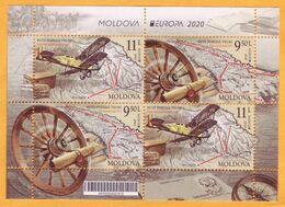 2020  Moldova Moldavie  H-Blatt Russia Romania  Europa-cept Chisinau, Iasi, Bucharest Galati  Mint - Europa-CEPT