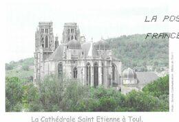 TOUL MEURTHE ET MOSELLE, LA CATHEDRALE SAINT ETIENNE, PAP ENTIER POSTAL FLAMME LA POSTE 2012, VOIR LES SCANNERS - Eglises Et Cathédrales