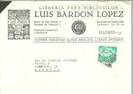 CARTA   COMERCIAL  1966 MADRID - 1931-Aujourd'hui: II. République - ....Juan Carlos I