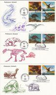 USA 1989 3 FDC Dinosaurs - Prehistorics