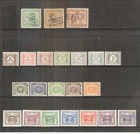 Congo Belge - TX.63/65 + 66/72 + 73A/77A + 78/84- X/MH (à Voir) - Congo Belge