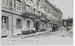 BOURG - GRAND HOTEL DE L'EUROPE - BELLE ANIMATION - VERS 1900 - Sonstige