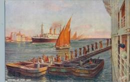 T.P. NO CIRCULADA , BARCOS , SHIPS , ORIENT LINER , COALING AT PORT SAID - Andere