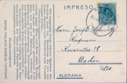 "1911 , TARJETA POSTAL CIRCULADA , SAN SEBASTIAN , VOM BERG "" ULIA "" AUS GESEHEN , ROYAL MALAGA BODEGA COMPANY - Guipúzcoa (San Sebastián)"