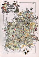 SAVOIE & DAUPHINE - Carte/Plan Régional Avec Petits Dessins De Jacques Liozu - Zonder Classificatie