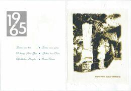 Double Postcard Kompas - Slovenia - Postojna Jama - Bonne Annee,New Year 1965.cloth / Canvas - Slovenia