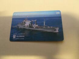 (G 21) Brazil -  Supply Ship C23 - ネコ -Carte Tephone / Phonecard / Telefonkarte / Carta Telefonica / Tarjeta Telefónica - Army