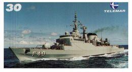 (G 21) Brazil -  F40 Warship - ネコ -Carte Tephone / Phonecard / Telefonkarte / Carta Telefonica / Tarjeta Telefónica - Army