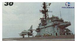 (G 21) Brazil -  Aircraft Carrier - ネコ -Carte Tephone / Phonecard / Telefonkarte / Carta Telefonica / Tarjeta Telefónica - Army