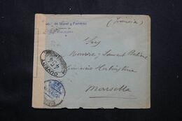 ESPAGNE - Enveloppe Commerciale De Barcelone Pour La France Avec Contrôle Postal - L 69858 - Briefe U. Dokumente