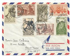 AOF DIVERS LETTRE AVION DAKAR PRINCIPAL SENEGAL 30.1.1951 POUR ARLES - Cartas