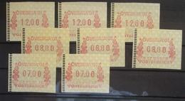 Österreich ATM  Frama Övebria 2001, 8 Werte Postfrisch (31975) - Austria
