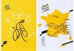 CYCLISME : TOUR DE FRANCE 2020 2 CARTES POSTALES DOCAPOSTE PARCOURS Et AFFICHE - Ciclismo